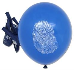 Tatort Detektiv Luftballons 8 Stück Krimidinner Party Latexballon Dekoration