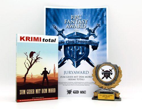 Ausgezeichnet: KRIMI total – Zum Geier mit dem Mord erhält RPC Fantasy Award 2016!