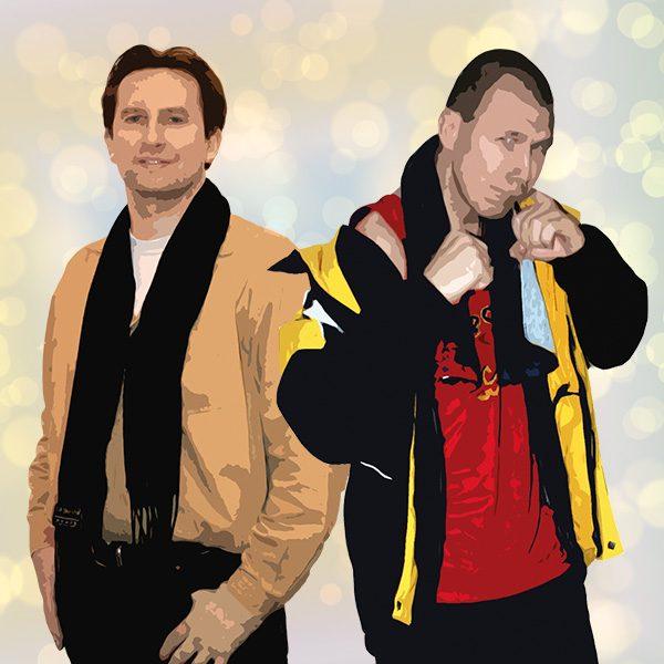 Boxer Lukas und sein Freund Christian