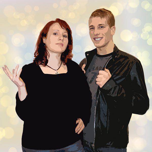 Popstar Philipp und seine Freundin, die Designerin Julia