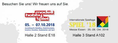 KRIMI total auf der Messe modell hobby spiel in Leipzig und auf der Messe SPIEL in Essen