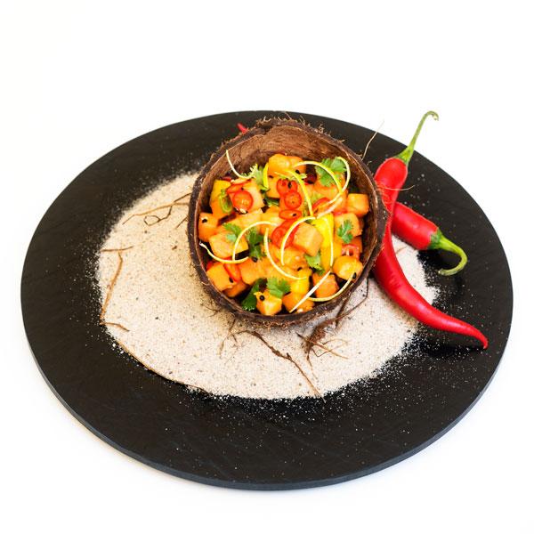 karibischer Salat mit Mangos