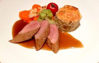 3. Gang KRIMI total DINNER: Schuldige Filettranchen vom Landschwein